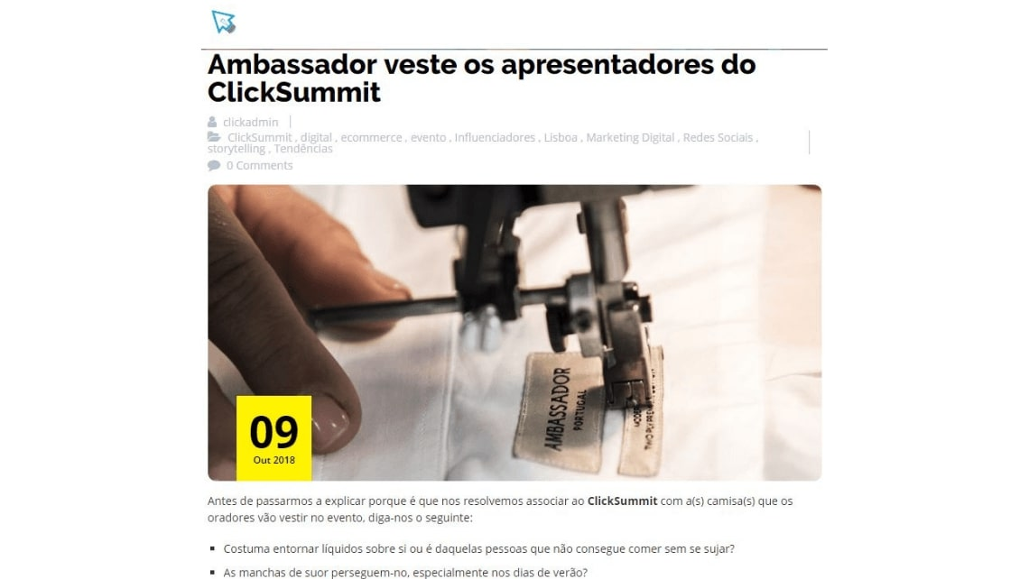 Ambassador at ClickSummit, a technology conference
